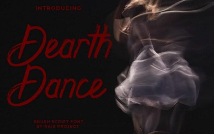Dearth Dance Brush Font