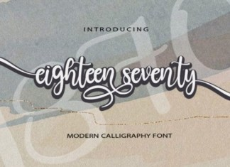 Eighteen Seventy Font