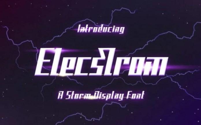 Elecstrom Font