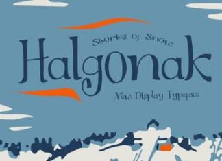 Halgonak Font