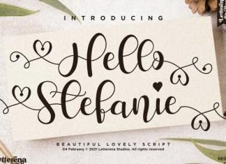 Hello Stefanie Font