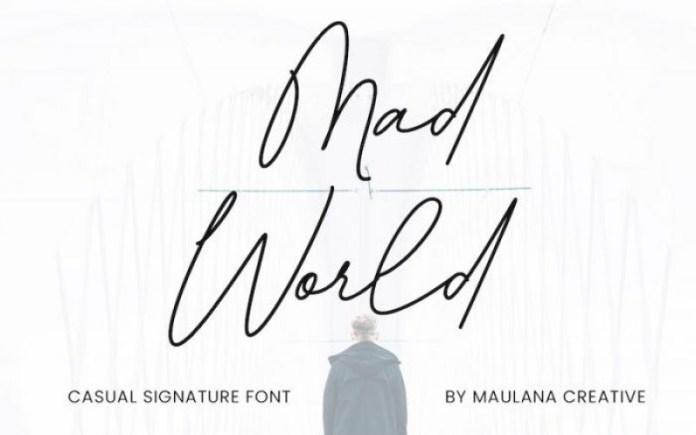 Mad World Font