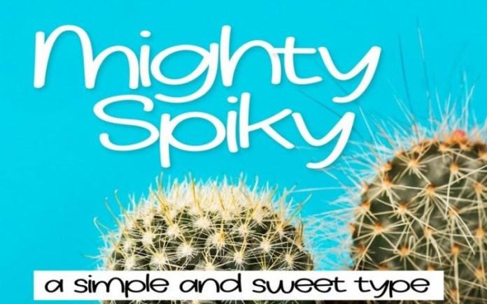 MightySpiky Font