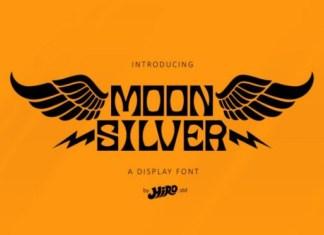 Moon silver Font