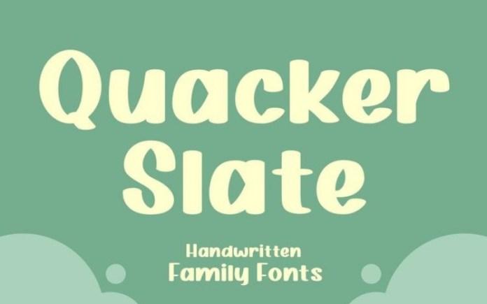 Quacker Slate Font