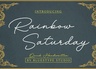 Rainbow Saturday Font