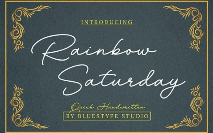Rainbow Saturday Font