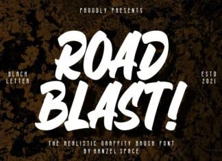 Road Blast Font