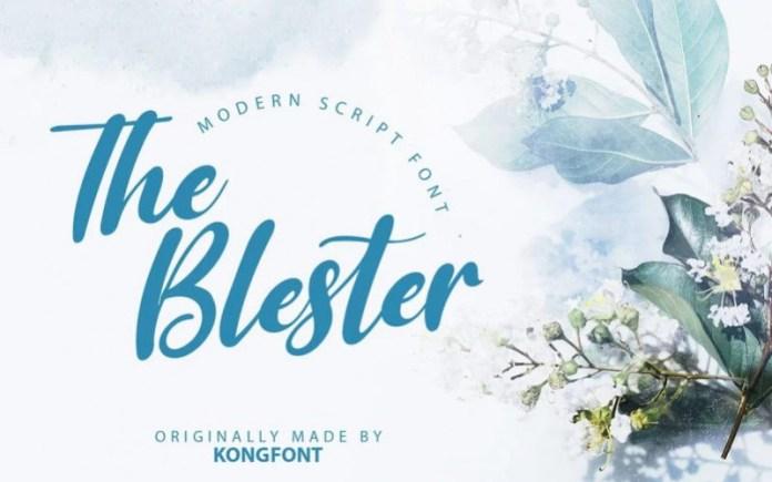 The Blester Font