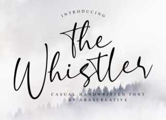 The Whistler Font