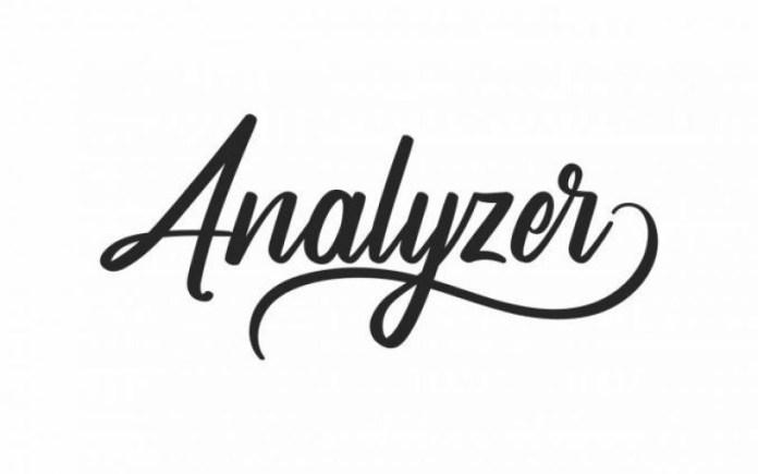 Analyzer Font