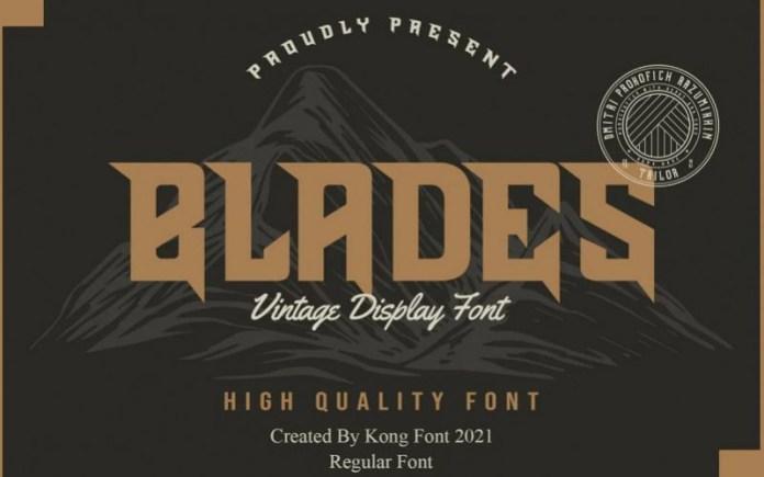 Blades Font