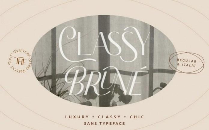 Classy Brune Font