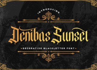Denibas Sunset Font
