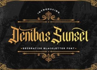Denibas Sunset Font