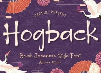 Hogback Font