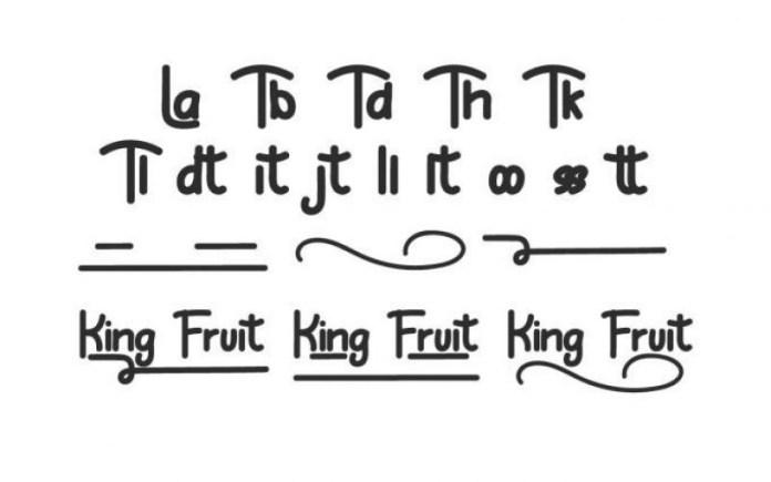 King Fruit Font