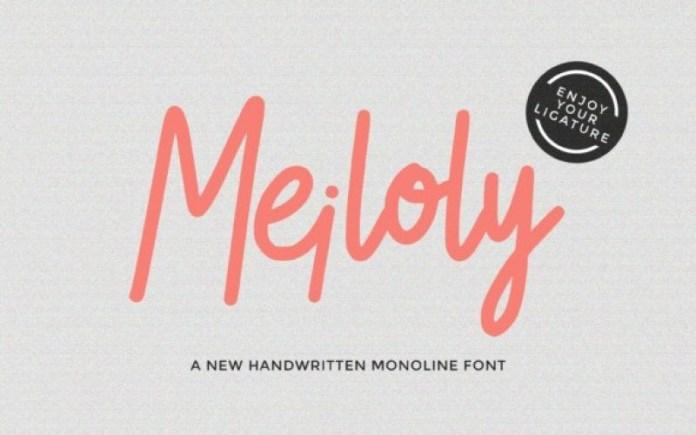 Meiloly Font
