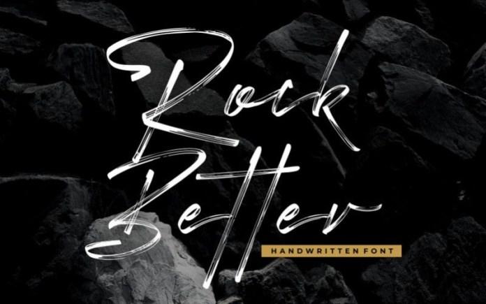 Rock Better Font