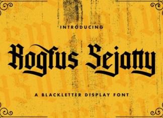 Rogfus Sejatty Font