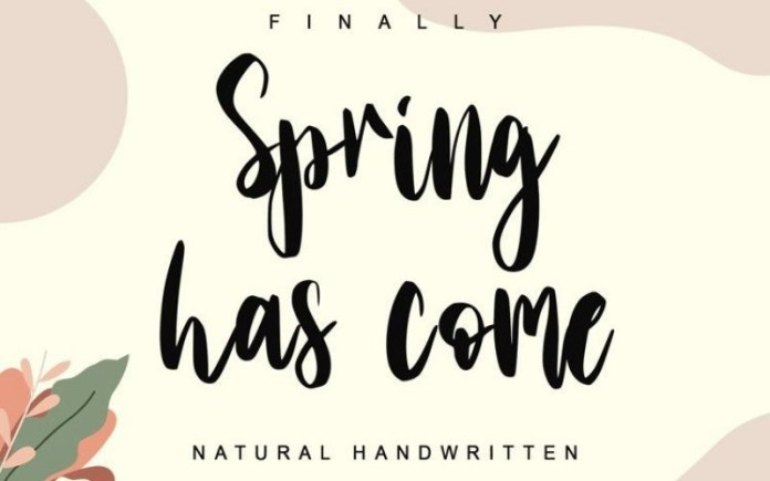 Spring Has Come Font