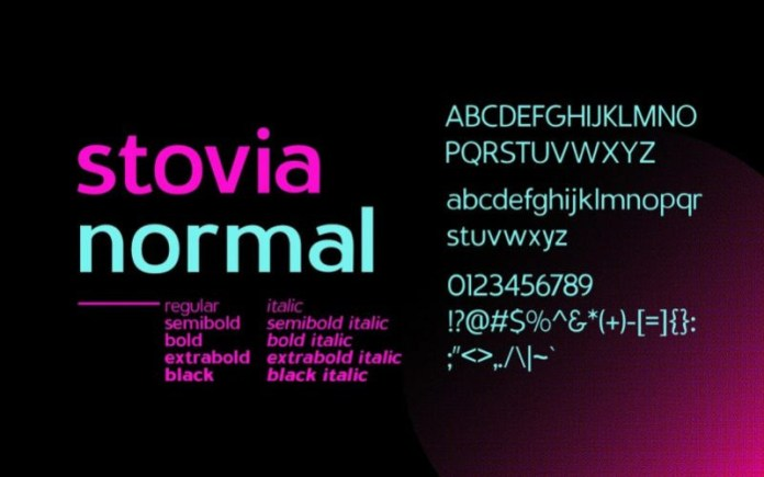 Stovia Font