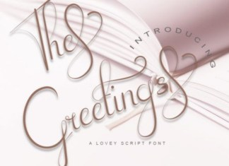 The Greetings Font