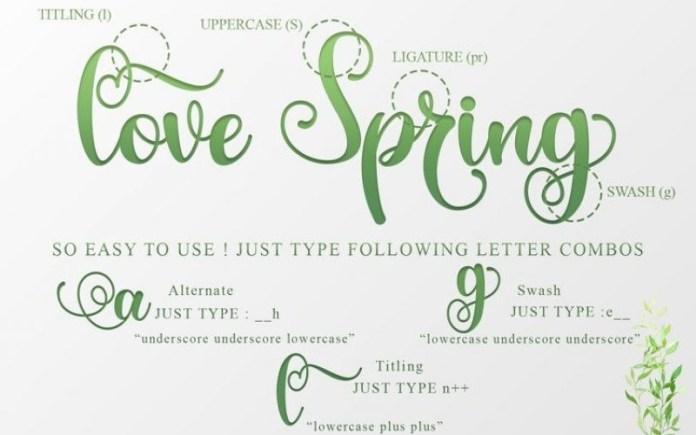 The Spring Font