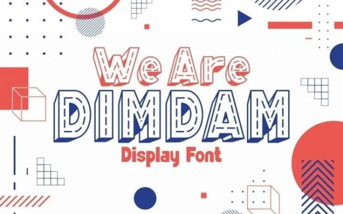 We Are DIMDAM Font