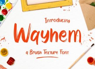 Wayhem Brush Font