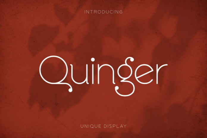 Quinger Sans Serif Font