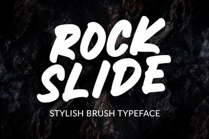 ROCKSLIDE Brush Font