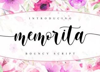 Memorita Calligraphy Font