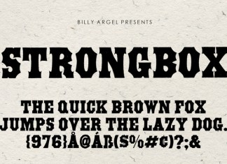 STRONGBOX Display Font