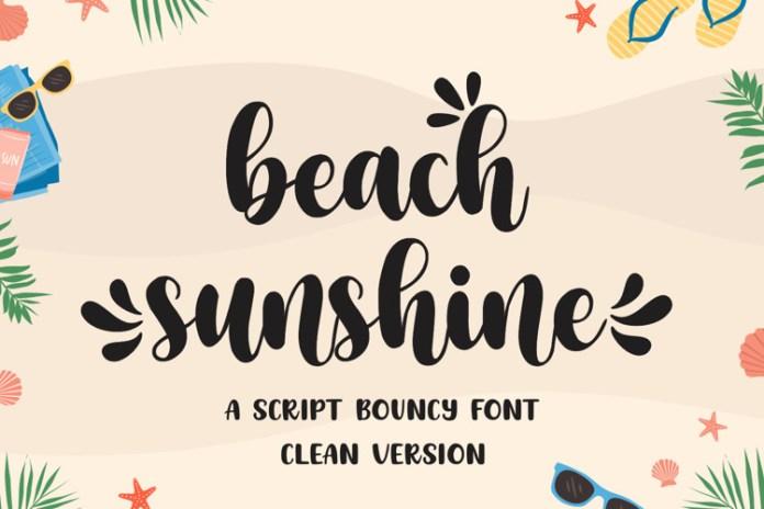 Beach Sunshine Script Font