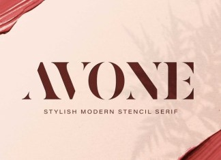 AVONE Display Font