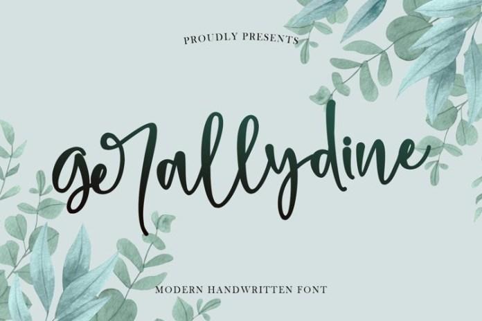 Gerallydine Script Font