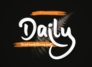 Daily Brush Font