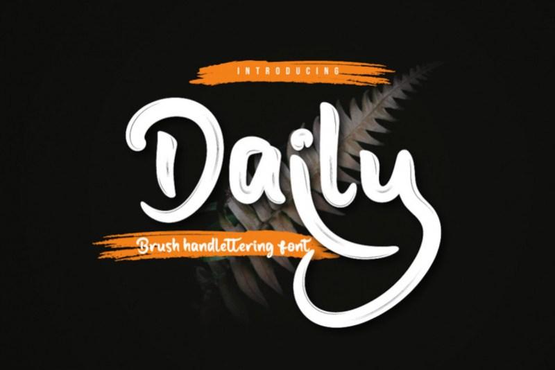 Daily Brush Font