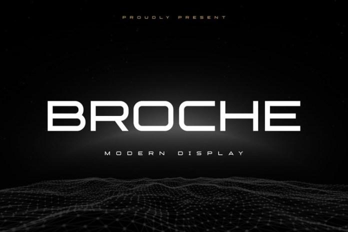 Broche Cut Sans Serif Font
