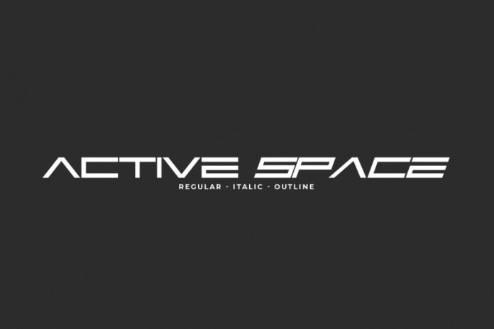 Active Space Display Font