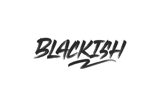 Blackish Brush Font