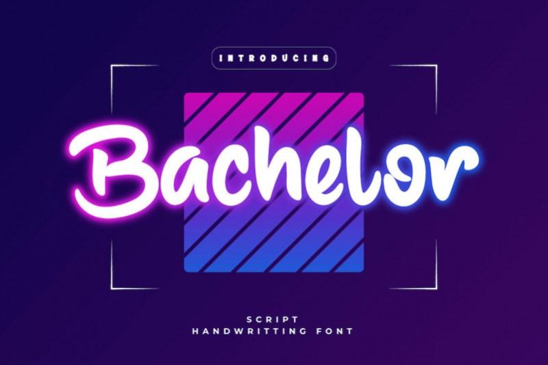 Bachelor Display Font