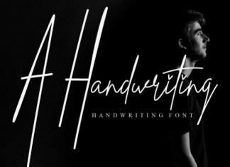 A Handwriting Font