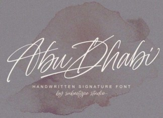 Abu Dhabi Handwritten Font