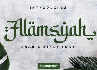 Alamsyah Display Font
