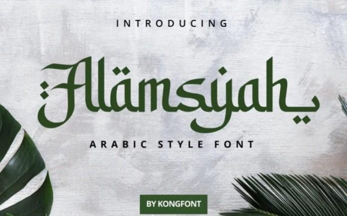 Alamsyah Display Font