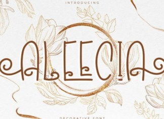 Aleecia Display Font