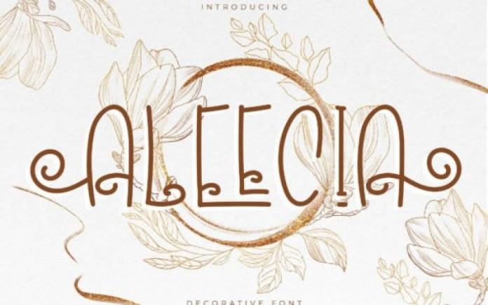 Aleecia Display Font