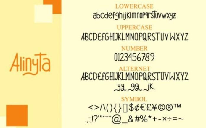 Alinyta Display Font